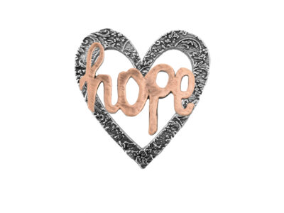 """Hope"" Heart Pin"