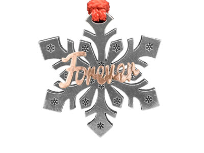 """Forever"" Snowflake Ornament"