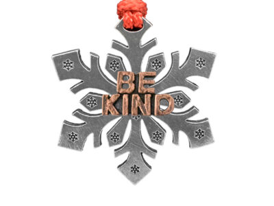 """Be Kind"" Snowflake Ornament"