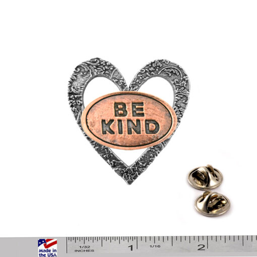 """""""Be Kind"""" Heart Pin"""