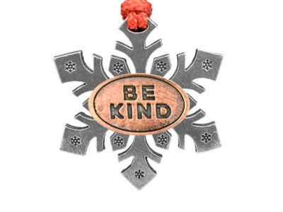 """Be Kind"" (Bold) Snowflake Ornament"