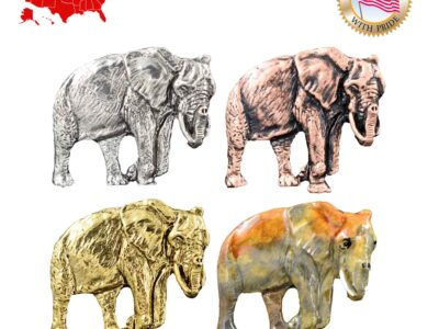 African Elephant Pin