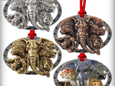 Africa Big 5 Heads Premium Ornament