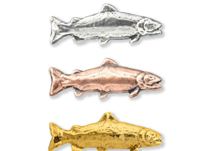 Curved Rainbow Trout Tie Tack