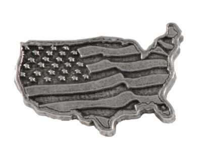 American Flag In Usa Outline Large Magnet