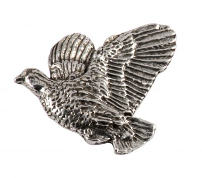 Bobwhite Quail Flying Left Pin