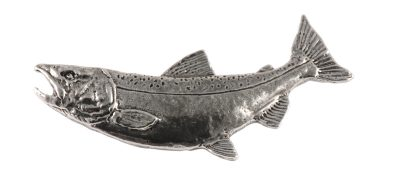 Chinook Salmon Curved Pin