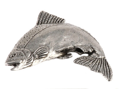 Chinook Salmon Leaping Premium Pin