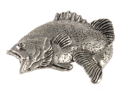 Largemouth Bass Leaping Premium Pin