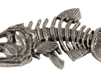 Skeleton Fish Premium Pin