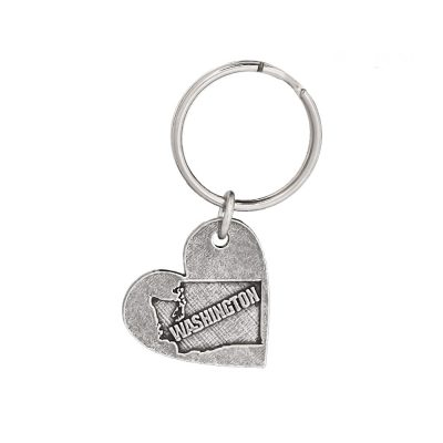 Heart Shape Washington Keychain