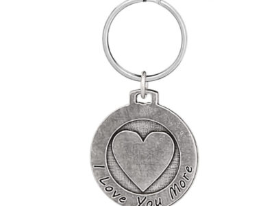 """Love You More"" Keychain"