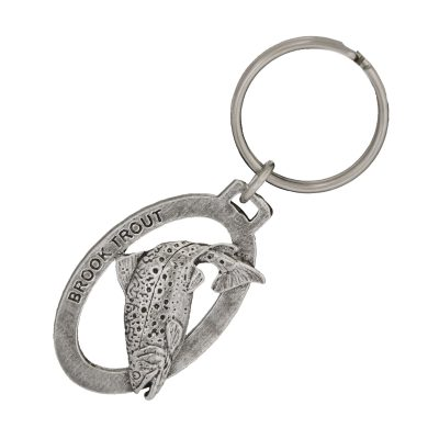 Brook Trout Leaping Keychain
