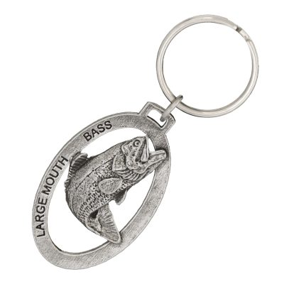 Largemouth Bass Leaping Keychain
