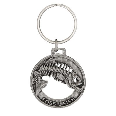Skeleton Fish Leaping Keychain