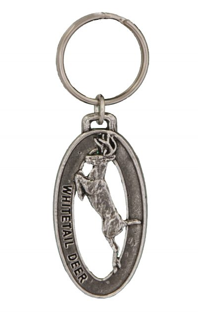 Whitetail Leaping Small Keychain