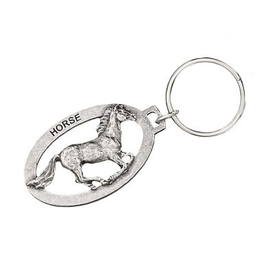 Horse Galloping Keychain