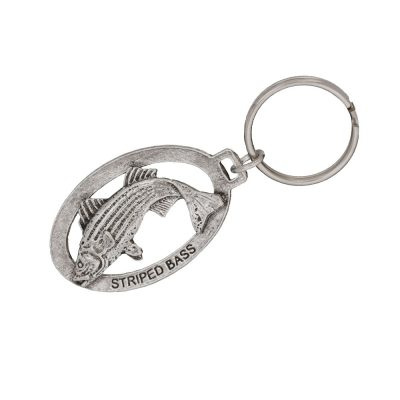 Striper Leaping Keychain