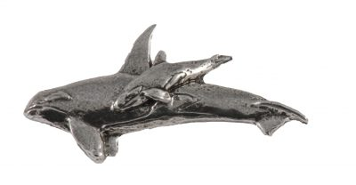 Orca - Killer Whale Mother And Baby Pin