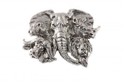 Africa Big 5 Heads Pin Premium