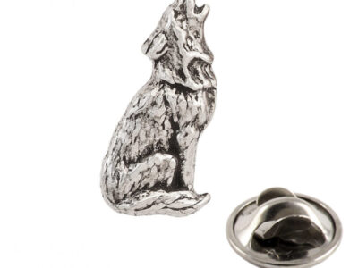 Wolf Howling Tie Tack