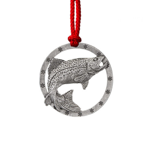 Brown Trout Leaping Right Ornament